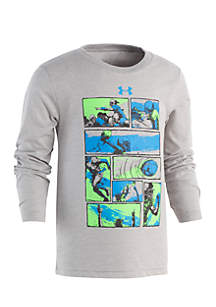 Under Armour® Boys 4-7 Long Sleeve Football Comic Tee
