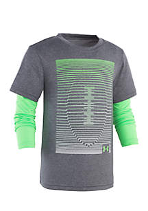 Under Armour® Boys 4-7 Linear Football Slider Tee