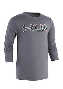 Boys 4-7 Static Digital Long Sleeve Tee