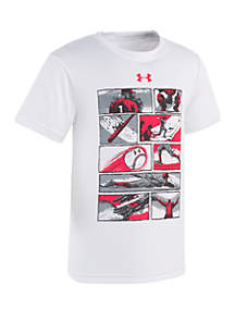 Boys 2-7 Baseball Comic Short Sleeve Tee