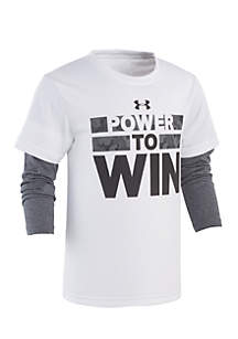 Under Armour® Boys 4-7 Power To Win Slider Tee