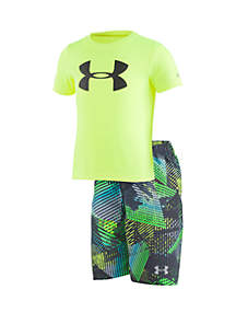 Under Armour® Boys 2-7 UA Triangle Camo Volley Set