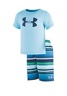 Under Armour® Boys 2-7 UA Board Short Stripe Volley Set