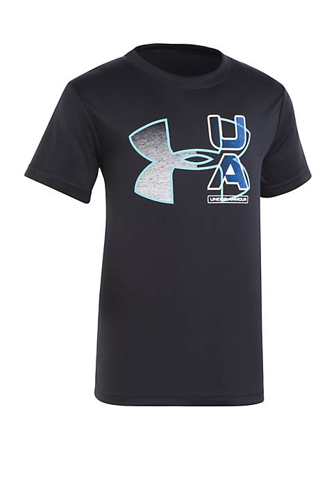 Boys 2-7 Fade Logo Short Sleeve Tee