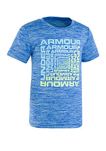 Under Armour® Boys 2-7 Squared Twist Logo Short Sleeve Tee