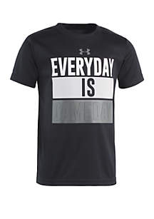 Under Armour® Boys 2-7 Everyday Is Gameday Short Sleeve T Shirt