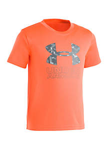 Under Armour® Boys 2-7 Knockout Big Logo Short Sleeve T Shirt