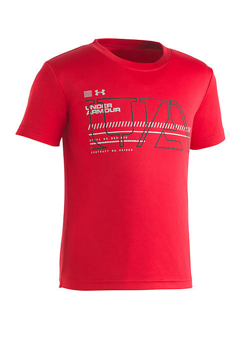 Under Armour® Boys 2-7 UA Stencil Short Sleeve