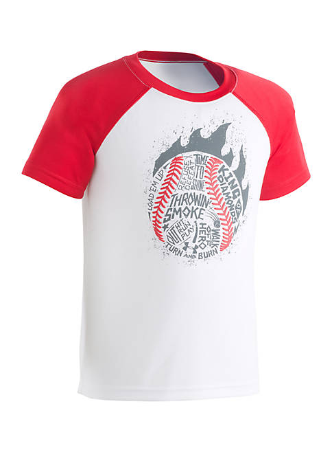 Under Armour® Boys 2-7 Throwing Smoke Raglan Tee
