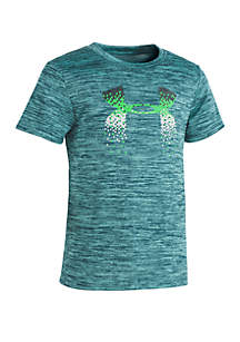 Under Armour® Boys 2-7 UA Pixel Fade Twist Logo Short Sleeve Shirt