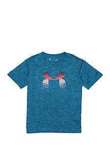 Under Armour® Boys 2-7 Twist Big Logo T Shirt
