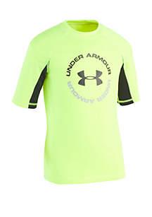 Under Armour® Boys 4-7 H2O Reveal Short Sleeve Rash Guard