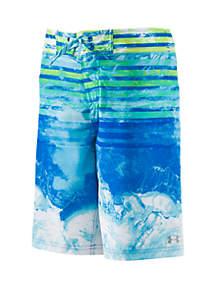 Under Armour® Boys 8-20 Marble Stripe Elastic Swim Board Shorts