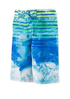 b64b280669 Under Armour® Boys 8-20 Marble Stripe Elastic Swim Board Shorts ...