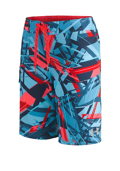 Under Armour® Geo Storm Elastic Swim Boardshorts