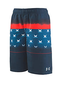 Under Armour® Boys 8-20 Americana Striped Volley Swim Shorts