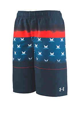 5241588de8 Under Armour® Boys 8-20 Americana Striped Volley Swim Shorts ...