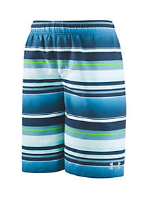 Under Armour® Boys 8-20 Stripe Volley Board Shorts