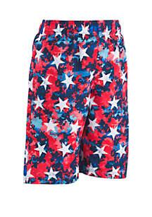 Under Armour® Boys 8-20 Star Digicam Swim Volley Shorts
