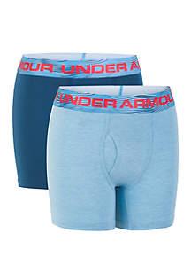 Under Armour® Boys 8-20 Solid Cotton Boxer Set