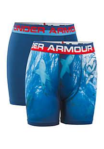 Under Armour® Boys 8-20 Shark Boxer Set