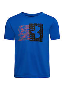 Under Armour® Boys 4-7 Repeat Big Logo Short Sleeve T Shirt