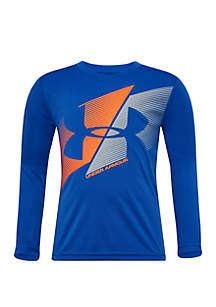 Under Armour® Boys 4-7 Slashed Logo Long Sleeve T Shirt