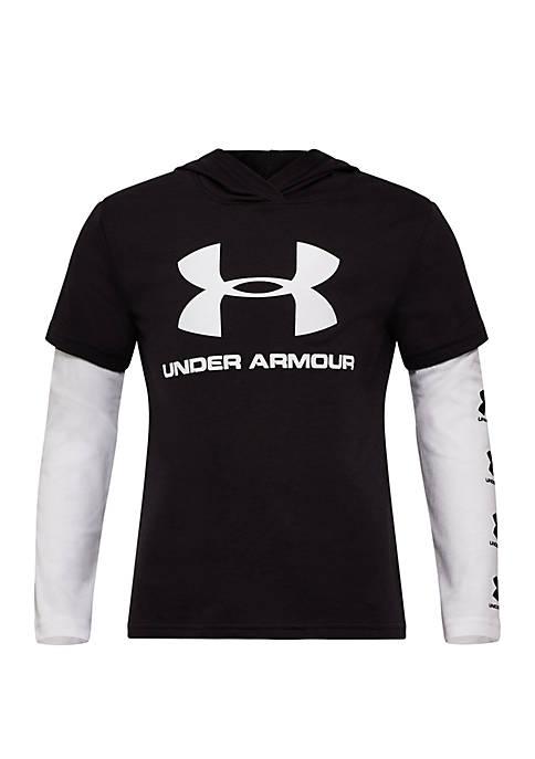 Boys 4-7 UA Repeat Slider T Shirt