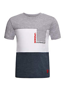 Under Armour® Boys 4-7 Pieced Pocket Short Sleeve T Shirt