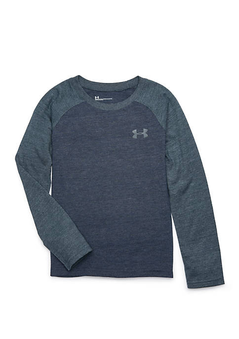 Under Armour® Boys 4-7 Tri Blend Long Sleeve