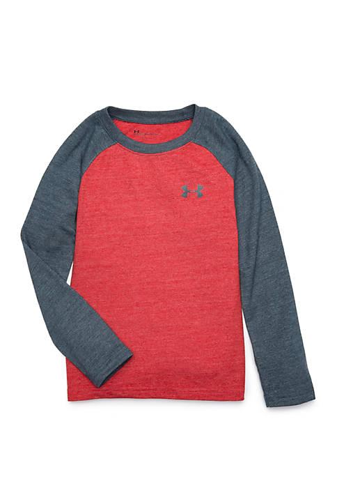 Boys 4-7 Tri Blend Long Sleeve Raglan T-Shirt
