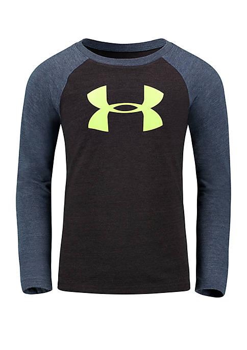 Toddler Boys 4-7 Triblend Long Sleeve Raglan T Shirt