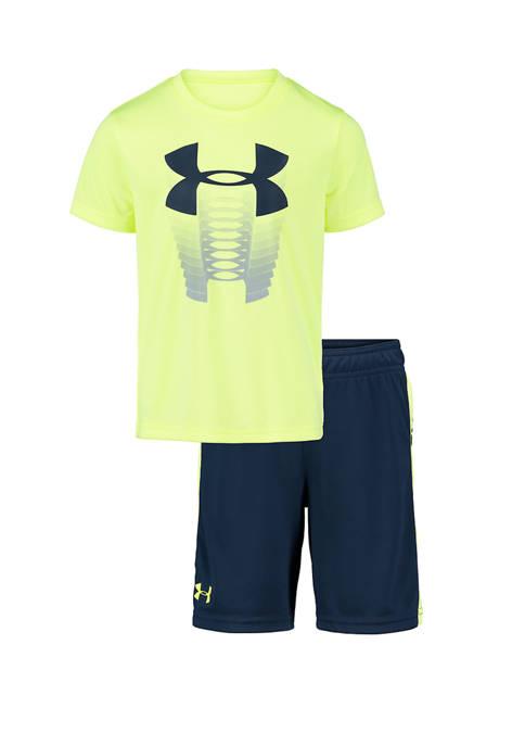 Under Armour® Boys 4-8 Rising Logo Shirt and
