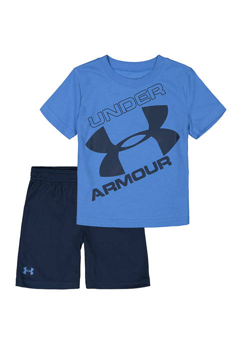 Under Armour® Boys 4-7 2 Piece Tilted Logo
