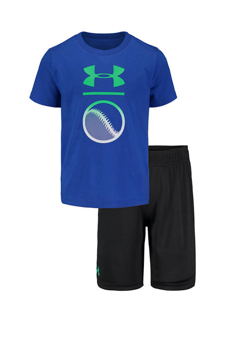 Under Armour® Boys 4-8 Rising Logo Shirt and