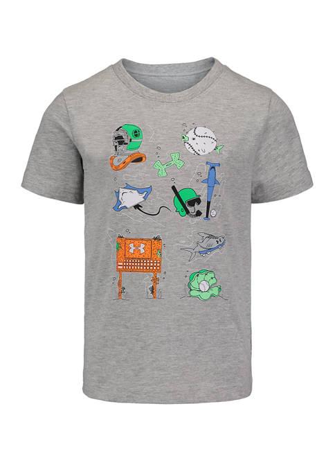 Boys 4-7 Short Sleeve Underwater Sports Graphic T-Shirt
