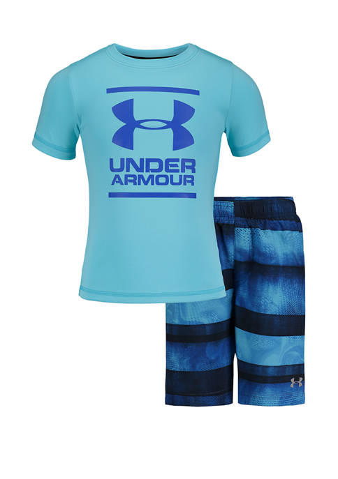 Boys 4-7 Graphic T-Shirt and Swim Trunks Set