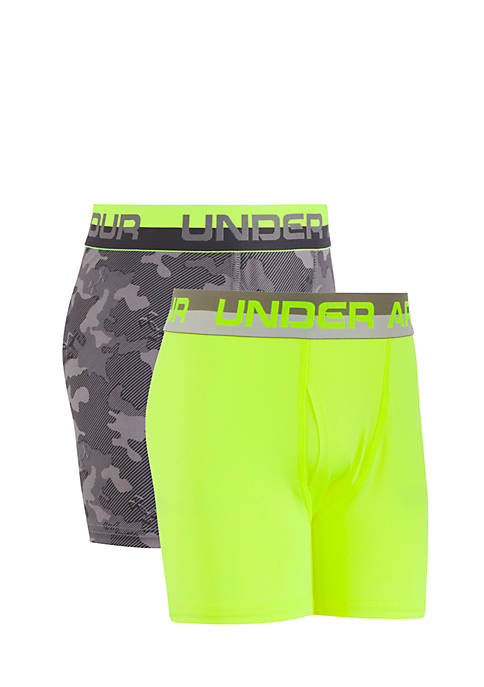 Under Armour® 2-Pack Camo Performance Boxers Boys 8-20