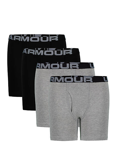 Under Armour® Boys 8-20 Set of 4 Cotton