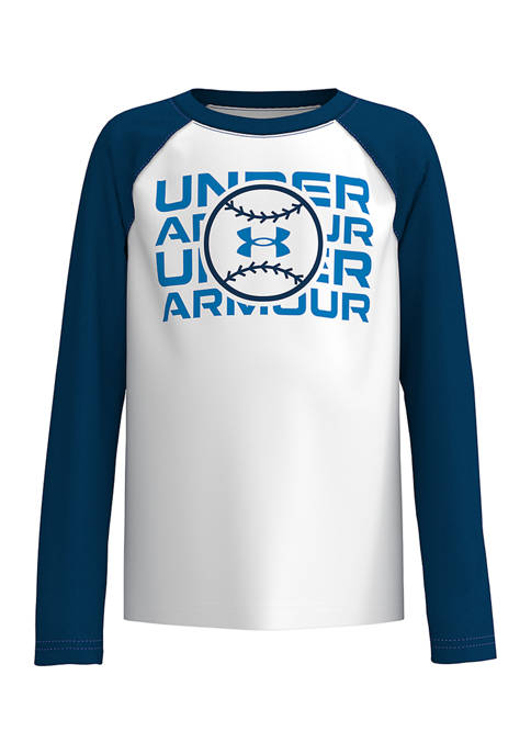 Under Armour® Boys 4-7 Baseball Long Sleeve Shirt