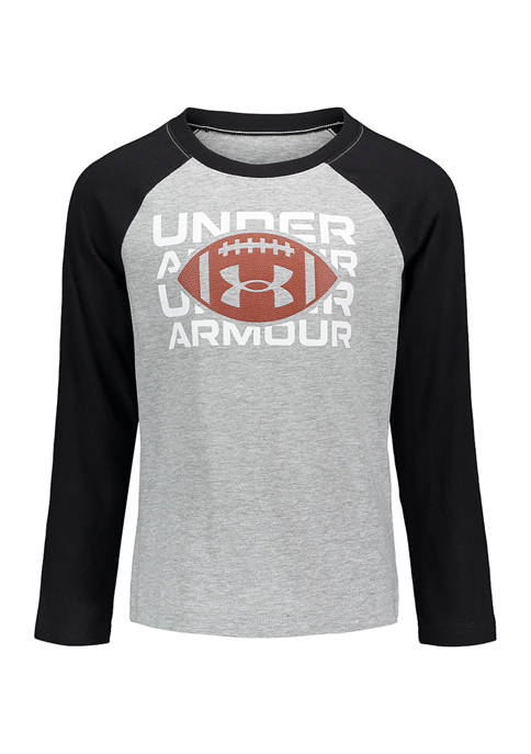 Under Armour® Boys 4-7 Branded Football Long Sleeve