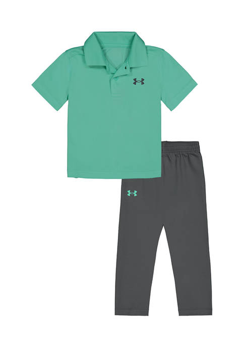 Under Armour® Boys 4-7 Polo Set