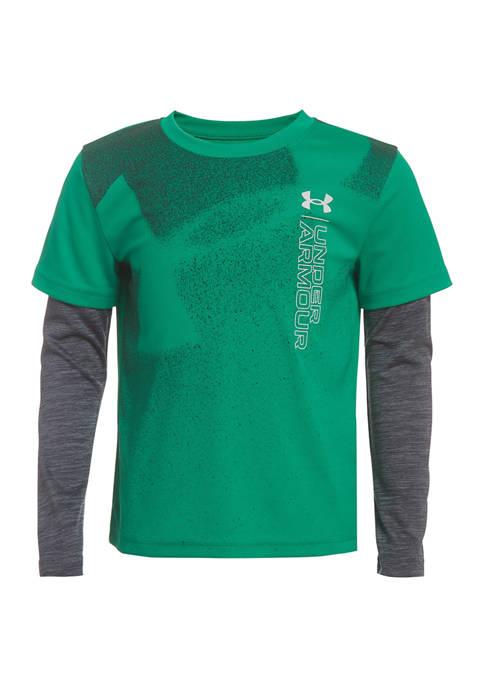 Under Armour® Boys 4-7 Logo Fog Long Sleeve