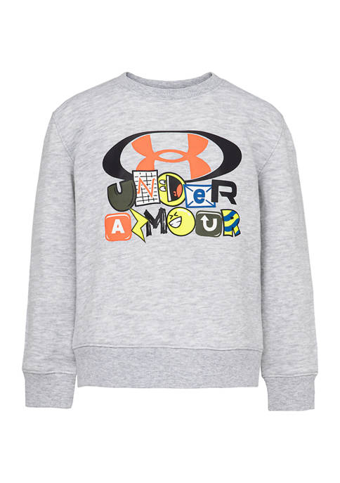 Under Armour® Boys 4-7 Brand Marker Graphic Crew