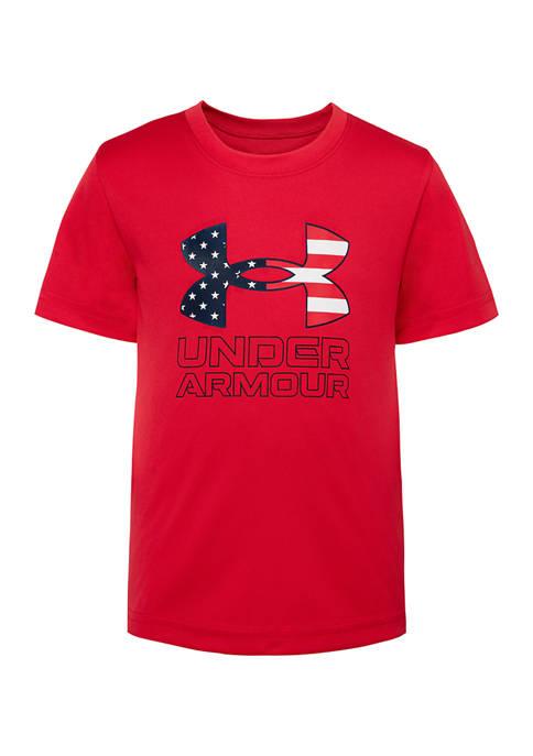 Under Armour® Boys 4-7 Flag Logo T-Shirt
