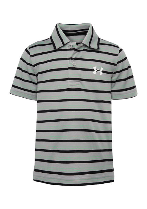 Under Armour® Boys 4-7 Match Play Striped Polo