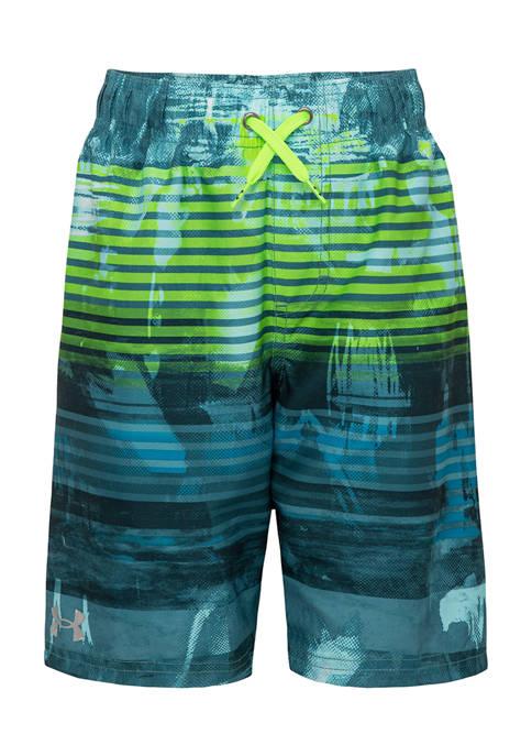 Under Armour® Boys 8-20 Scribble Stripe Swim Shorts