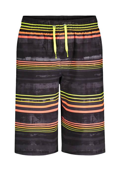 Under Armour® Boys 8-20 Variegated Stripe Swim Shorts