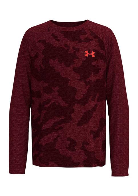 Boys 4-7 Fury Camo Long Raglan Sleeve Shirt