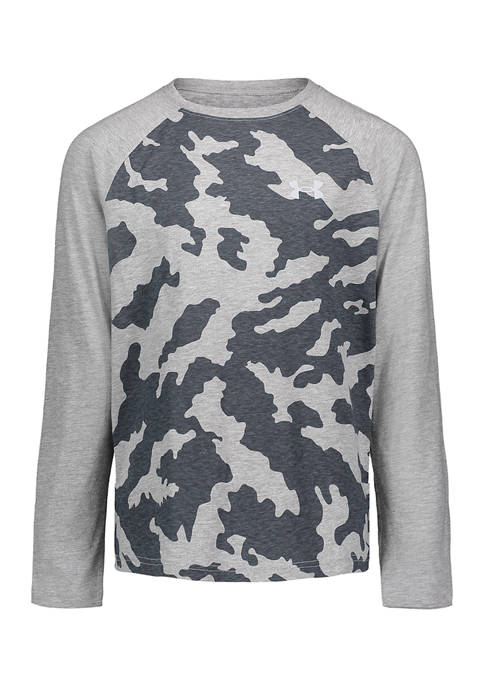 Boys 8-20 Long Sleeve Raglan Camo T-Shirt